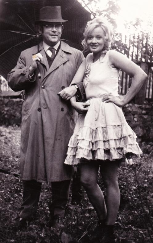 1968 S Janou Brejchovou při natáčení Farářova konce