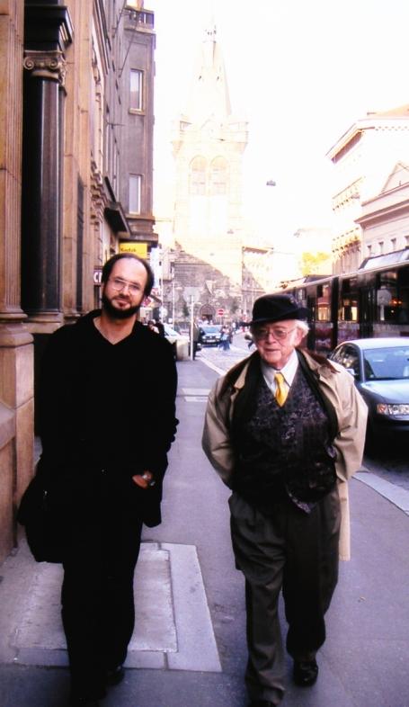 1999 JŠ s Michalem Přibáněm, redaktorem Dannyho, editorem Spisů a autorem bibliografie
