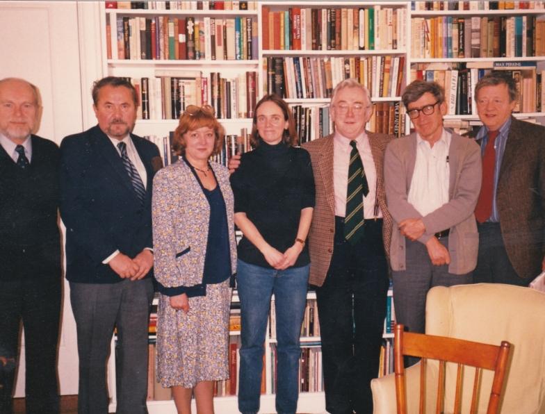 80. léta  Americans Friends 68 Publishers, zleva  J.Klier, Ota Ulč, Zdena, B.Bristol, Josef, G.Gibian
