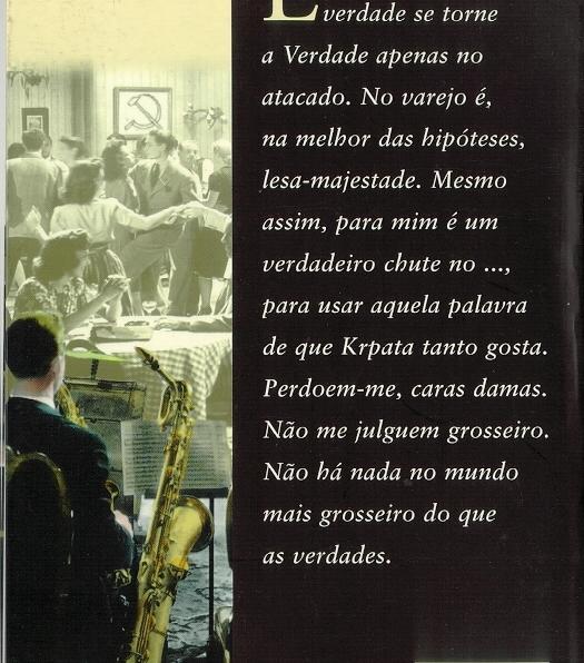a historía do saxofonista zadní strana