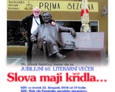 Pozvánka na besedu, mj. o knize Josef Škvorecký: Prima sezóny