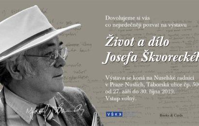 Výstava Život a dílo Josefa Škvoreckého